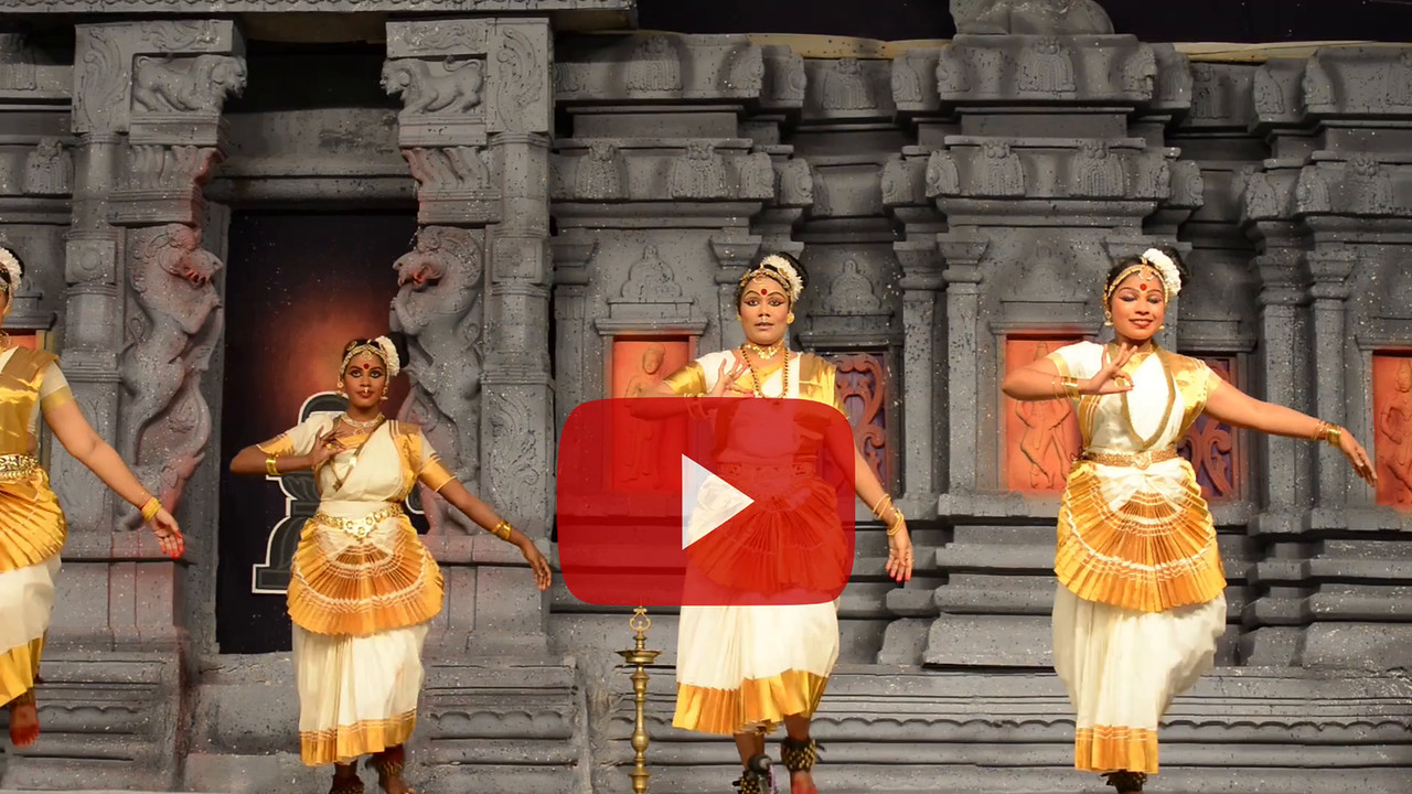 "Short video clip of Mohini Attam: Vichitra Dhinakaran & Students, Puducherry.<br /> Performance at Chidambaram Natyanjali Dance Festival 2015 held at Chidambaram in February 2015. The festival is known for its serenity and uniqueness of the devotion of the dancers dedicating their ""Natya"" (Dance) as ""Anjali"" (Offering) and worship to the Lord of Dance - Lord Nataraja (Shiva)."