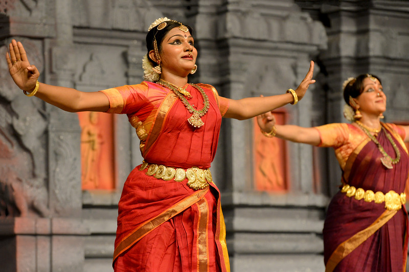 """""""Marabu"""" by Parasha Group, Roja Kannan, Priya Murle, Srikanth, and Aswathi, Chennai.<br /> Performance at Chidambaram Natyanjali Dance Festival 2015 held at Chidambaram in February 2015. The festival is known for its serenity and uniqueness of the devotion of the dancers dedicating their """"Natya"""" (Dance) as """"Anjali"""" (Offering) and worship to the Lord of Dance - Lord Nataraja (Shiva)."""