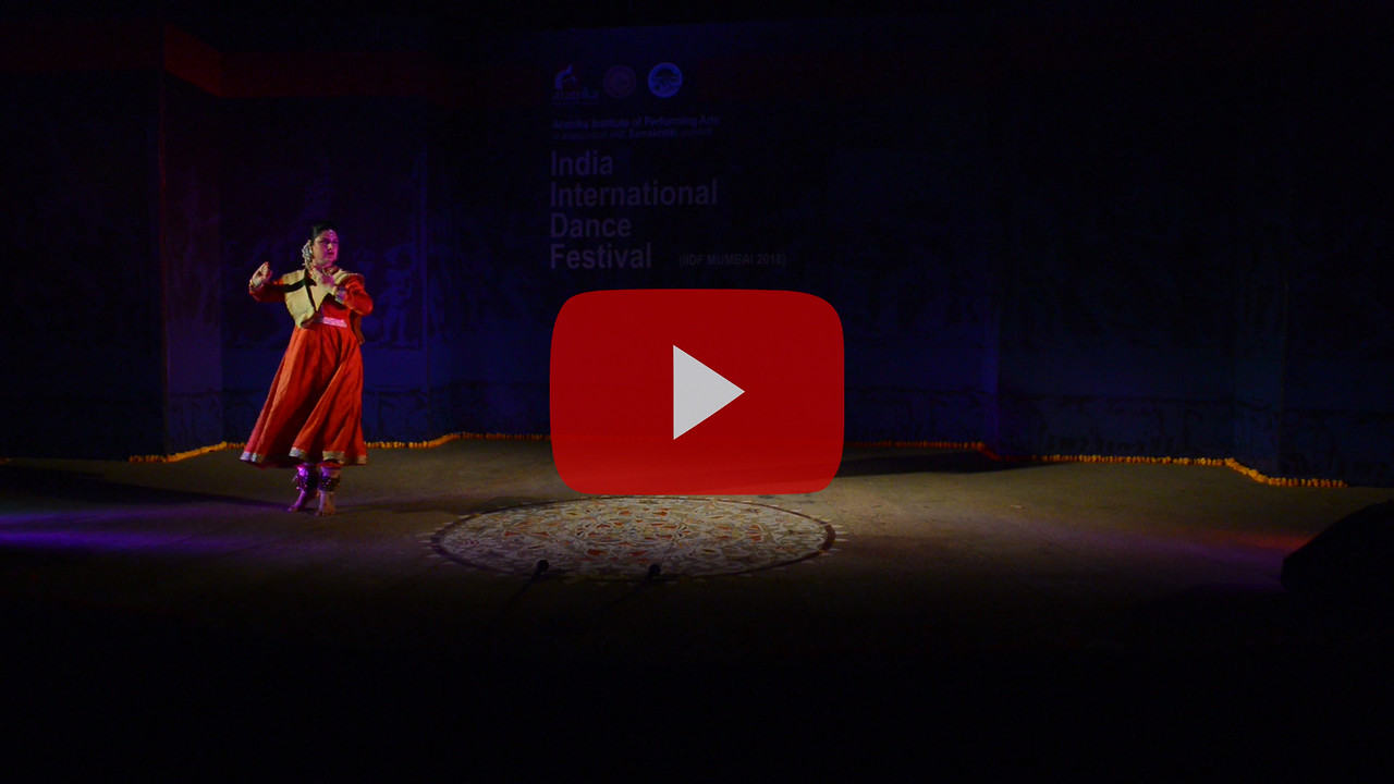 Short video clip of Dr. Tina Tambe is a Kathak Performer of Jaipur Gharana Style, Choreographer and a Teacher based in Mumbai, Maharashtra, India. Awarded with Nalanda Nritya Nipun and Singarmani awards, Tina holds Nritya Alankar, M.A. (Kathak) and PhD in Dance.<br /> <br /> INTERNATIONAL INDIA DANCE FESTIVAL (IIDF MUMBAI 2018) 3rd March 2018. Organized by Aratrika Institute of Performing Arts and Samskritiki for its first season in Mumbai. Classical dance styles, folk, contemporary and fusion were performed over three days of the festival (2nd, 3rd and 4th March 2018).