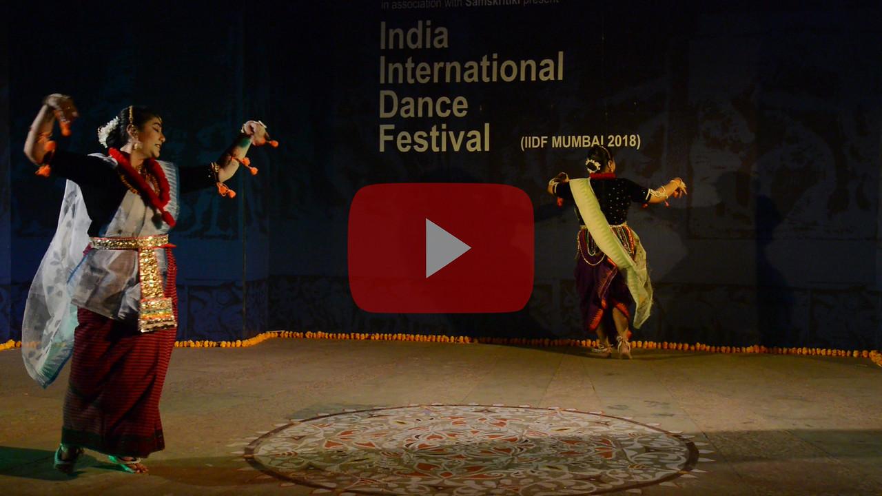 Short video clip of Smt Krishnakali Dasgupta, Manipuri.<br /> <br /> INTERNATIONAL INDIA DANCE FESTIVAL (IIDF MUMBAI 2018) 3rd March 2018. Organized by Aratrika Institute of Performing Arts and Samskritiki for its first season in Mumbai.