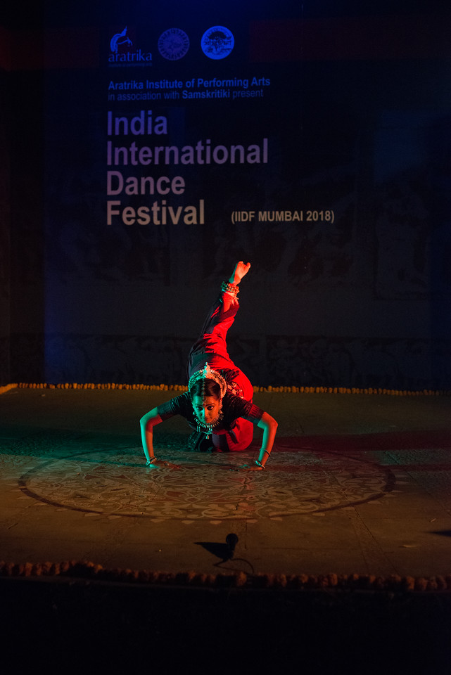 Namrata Mehta of Kaishiki. Odissi. Arksh - Exploring the Zodiac through Movement & Music in Odissi Dance. <br /> INTERNATIONAL INDIA DANCE FESTIVAL (IIDF MUMBAI 2018) 4th March 2018. Organized by Aratrika Institute of Performing Arts and Samskritiki for its first season in Mumbai.<br /> <br /> Classical dance styles, folk, contemporary and fusion were performed over three days of the festival (2nd, 3rd and 4th March 2018).
