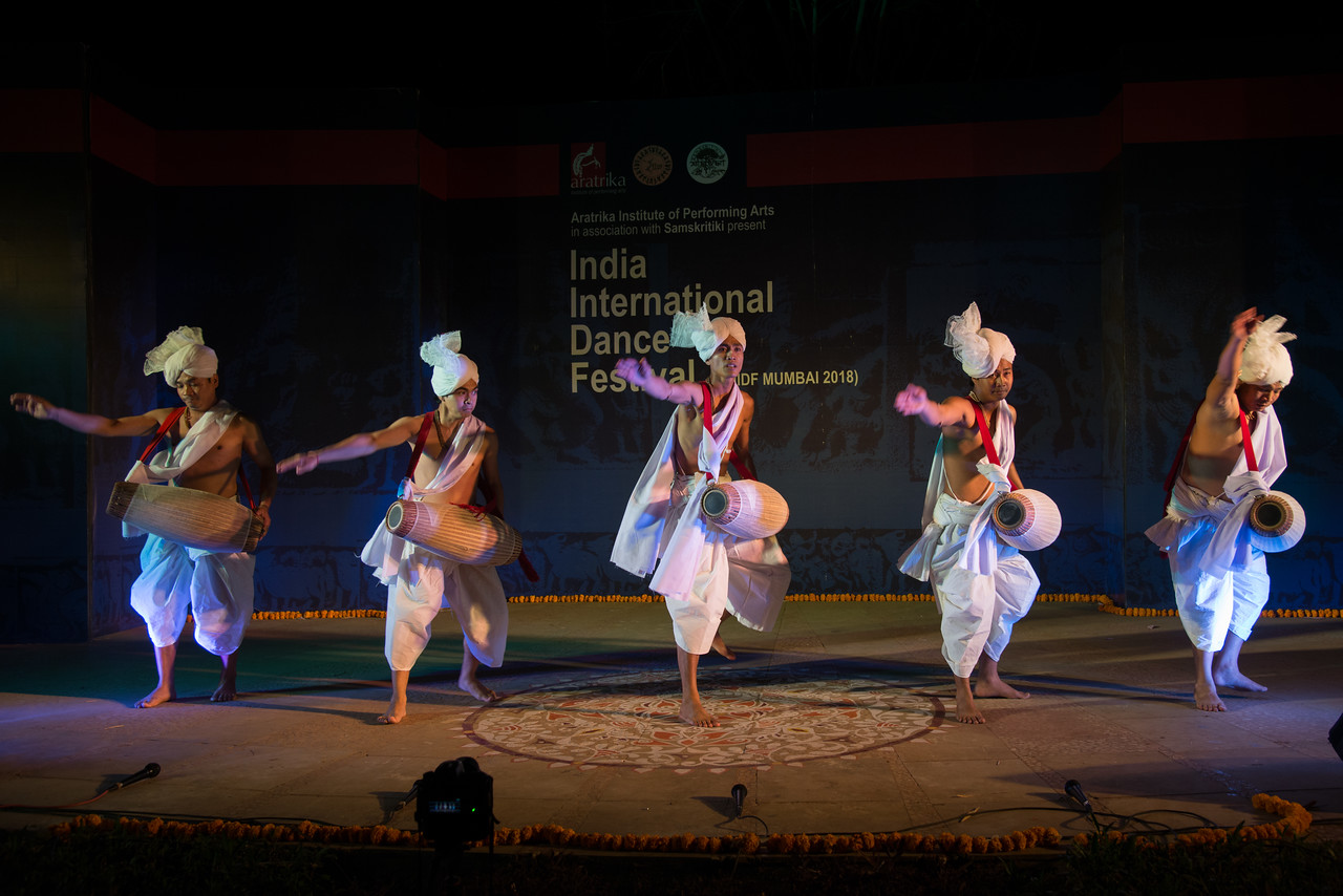 Pung Cholom, is a Manipuri dance. It is the soul of Manipuri Sankirtana music and Classical Manipuri dance. The Pung Cholom is a unique classical dance of Manipur and is usually a prelude to the Ras Lila.<br /> <br /> Dhol cholom from Imphal. Dhol Cholom is a renowned dance form of the North East Indian state of Manipur. This traditional dance is also known as 'Cholom Dance', 'Drum Dance' or 'Dholak Cholom'. This dance is particularly performed on the colorful spring festival of Holi.<br /> <br /> INTERNATIONAL INDIA DANCE FESTIVAL (IIDF MUMBAI 2018) 4th March 2018. Organized by Aratrika Institute of Performing Arts and Samskritiki for its first season in Mumbai.