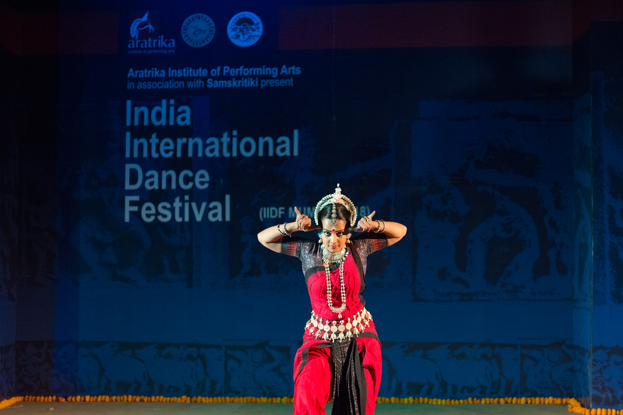 Namrata Mehta of Kaishiki. Odissi. Namrata learnt Odissi dance under Guru Smt Daksha Mashruwala. Arksh - Exploring the Zodiac through Movement & Music in Odissi Dance.<br /> <br /> INTERNATIONAL INDIA DANCE FESTIVAL (IIDF MUMBAI 2018) 4th March 2018. Organized by Aratrika Institute of Performing Arts and Samskritiki for its first season in Mumbai. Classical dance styles, folk, contemporary and fusion were performed over three days of the festival (2nd, 3rd and 4th March 2018).