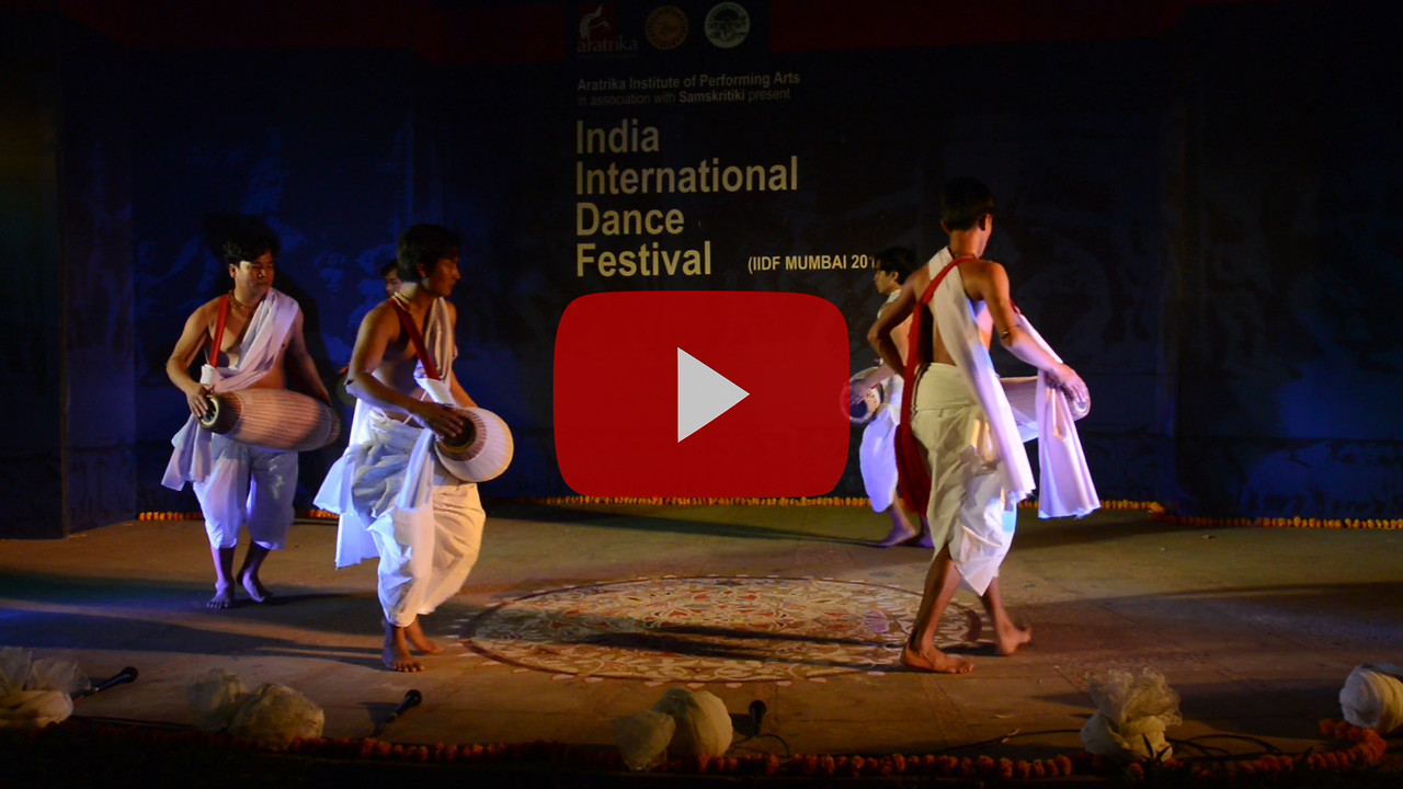 Short video clip of Pung Cholom, is a Manipuri dance. It is the soul of Manipuri Sankirtana music and Classical Manipuri dance. The Pung Cholom is a unique classical dance of Manipur and is usually a prelude to the Ras Lila.<br /> <br /> Dhol cholom from Imphal. Dhol Cholom is a renowned dance form of the North East Indian state of Manipur. This traditional dance is also known as 'Cholom Dance', 'Drum Dance' or 'Dholak Cholom'. This dance is particularly performed on the colorful spring festival of Holi.<br /> <br /> INTERNATIONAL INDIA DANCE FESTIVAL (IIDF MUMBAI 2018) 4th March 2018. Organized by Aratrika Institute of Performing Arts and Samskritiki for its first season in Mumbai.