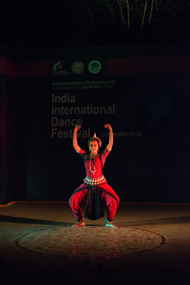 Namrata Mehta of Kaishiki. Odissi. Namrata learnt Odissi dance under Guru Smt Daksha Mashruwala.<br /> <br /> Arksh - Exploring the Zodiac through Movement & Music in Odissi Dance.  INTERNATIONAL INDIA DANCE FESTIVAL (IIDF MUMBAI 2018) 4th March 2018. Organized by Aratrika Institute of Performing Arts and Samskritiki for its first season in Mumbai.