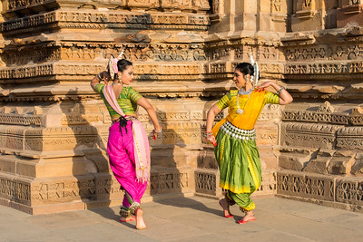 Namrata Mehta and Dhruvi Saachi Jaiin of Kaishiki, which was started by Odissi dance Guru Smt Daksha Mashruwala.  Khajuraho Dance Festival, Feb 2017. Colorful and brilliant classical dance forms of India with roots in the rich cultural traditions offer a feast for the eyes during a weeklong extravaganza. Khajuraho Temples in Madhya Pradesh are popular for their architectural wonders and sculptures.