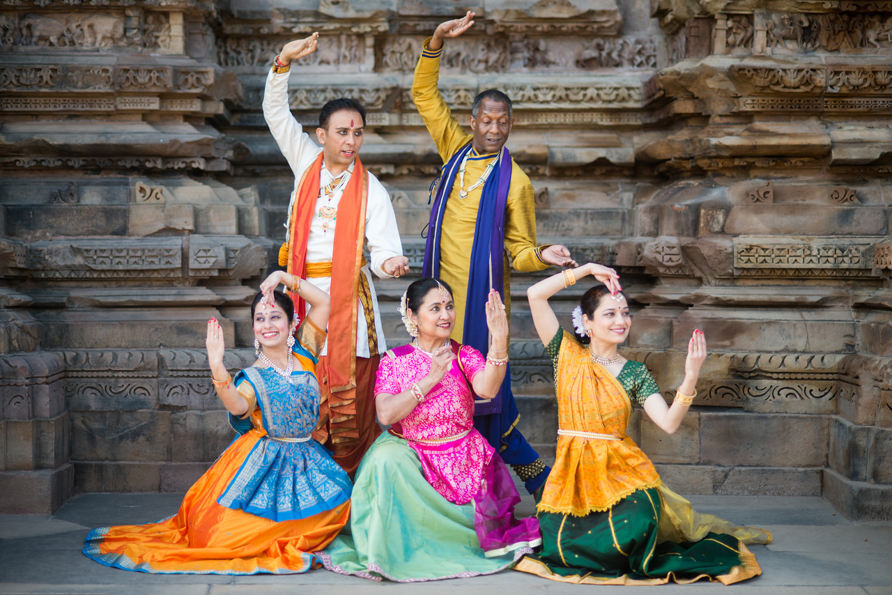 Anurag Sharma, Sarika Prabhu Haris, Mukta Sathe, Rita Mustaphi, and Derek Phillips, of Rita Mitra Mustaphi, Katha Dance Theater, USA. While adept in the classical Kathak vocabulary it is infused with contemporary sensibility acquired from interest in expression, rhythm works and movement idioms.<br /> Khajuraho Dance Festival, Feb 2017. Colorful and brilliant classical dance forms of India with roots in the rich cultural traditions offer a feast for the eyes during a weeklong extravaganza. Khajuraho Temples in Madhya Pradesh are popular for their architectural wonders and sculptures.