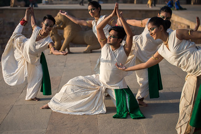 Lubna Marium's Shadhona Cultural Circle - A Center for Advancement of South Asian Culture, Dhaka, Bangladesh.  Khajuraho Dance Festival, Feb 2017. Colorful and brilliant classical dance forms of India with roots in the rich cultural traditions offer a feast for the eyes during a weeklong extravaganza. Khajuraho Temples in Madhya Pradesh are popular for their architectural wonders and sculptures.
