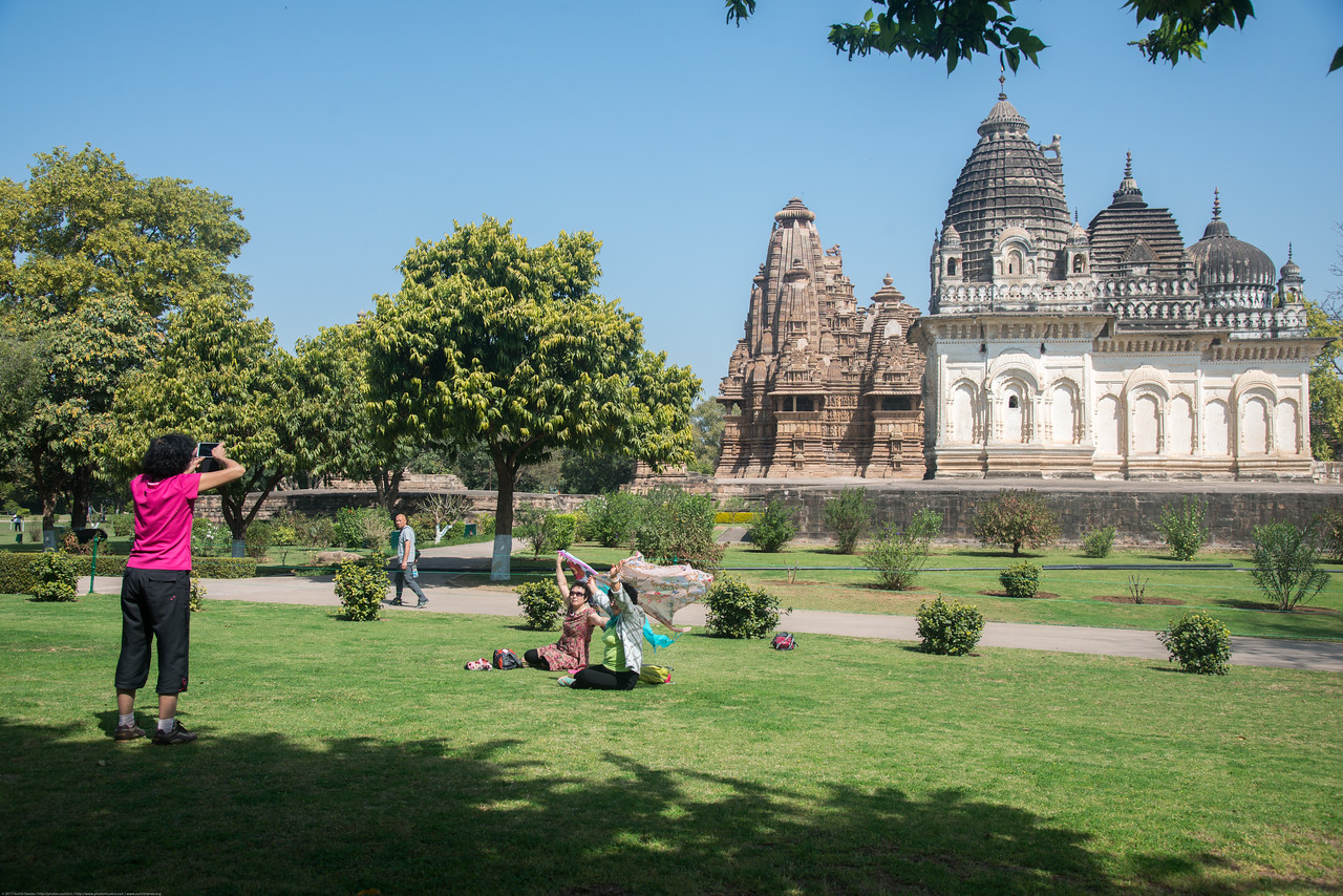 Many tourists visit the UNESCO recognized Khajuraho Temple Complex. Khajuraho - Land Of The Moon God is located in the Indian state of Madhya Pradesh (MP) and roughly 620 kilometers (385 miles) southeast of New Delhi. Khajuraho was the cultural capital of the Chandela Rajputs.