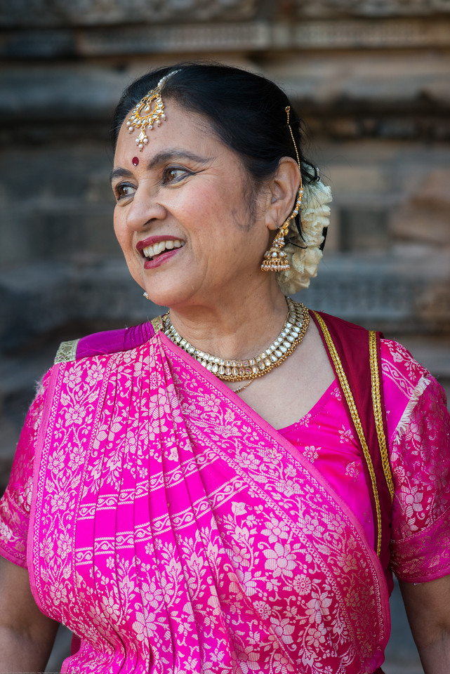 Rita Mitra Mustaphi, Katha Dance Theater, USA. While adept in the classical Kathak vocabulary it is infused with contemporary sensibility acquired from interest in expression, rhythm works and movement idioms.<br /> Khajuraho Dance Festival, Feb 2017. Colorful and brilliant classical dance forms of India with roots in the rich cultural traditions offer a feast for the eyes during a weeklong extravaganza. Khajuraho Temples in Madhya Pradesh are popular for their architectural wonders and sculptures.