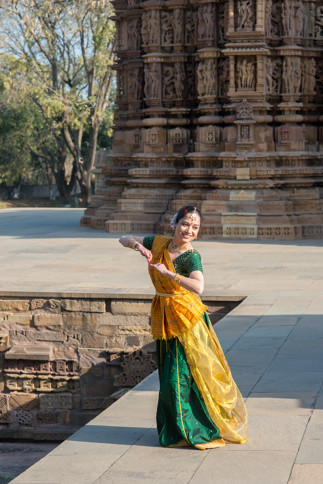 Mukta Sathe of Rita Mitra Mustaphi, Katha Dance Theater, USA. While adept in the classical Kathak vocabulary it is infused with contemporary sensibility acquired from interest in expression, rhythm works and movement idioms.<br /> Khajuraho Dance Festival, Feb 2017. Colorful and brilliant classical dance forms of India with roots in the rich cultural traditions offer a feast for the eyes during a weeklong extravaganza. Khajuraho Temples in Madhya Pradesh are popular for their architectural wonders and sculptures.