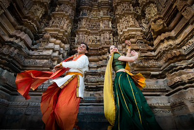 Anurag Sharma and Mukta Sathe of Rita Mitra Mustaphi, Katha Dance Theater, USA. While adept in the classical Kathak vocabulary it is infused with contemporary sensibility acquired from interest in expression, rhythm works and movement idioms. Khajuraho Dance Festival, Feb 2017. Colorful and brilliant classical dance forms of India with roots in the rich cultural traditions offer a feast for the eyes during a weeklong extravaganza. Khajuraho Temples in Madhya Pradesh are popular for their architectural wonders and sculptures.