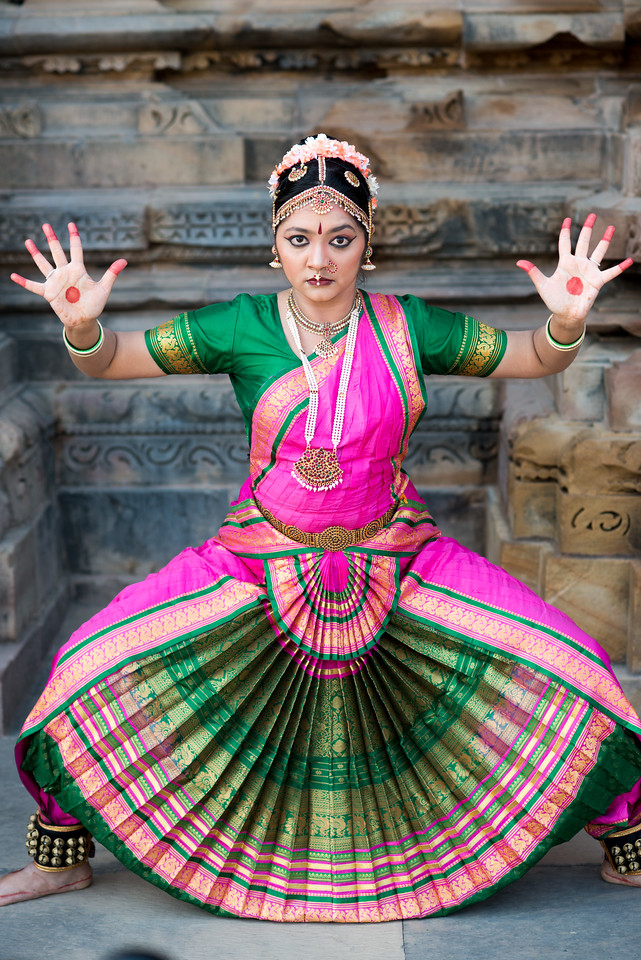 Rashmi Joshi, a Bharatnatyam dancer from Pune.<br /> Khajuraho Dance Festival, Feb 2017. Colorful and brilliant classical dance forms of India with roots in the rich cultural traditions offer a feast for the eyes during a weeklong extravaganza. Khajuraho Temples in Madhya Pradesh are popular for their architectural wonders and sculptures.