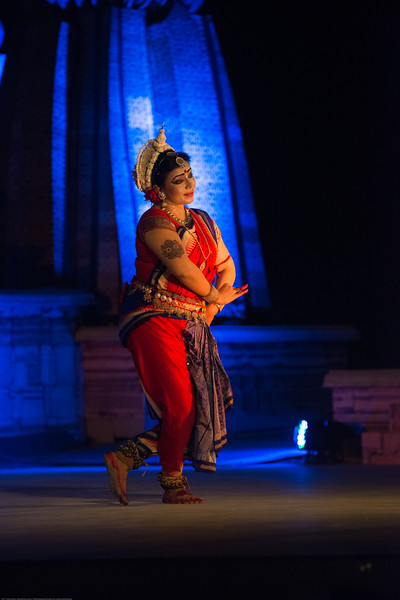 Sanchita Bhattacharya is an Indian Odissi dancer. A disciple of both the two resurrector-doyens of Odissi, Gurus Mayadhar Raut and Padmabibhusan Kelucharan Mahapatra and a recipient of Kalpataru Award (2000). Sanchita is not only a spellbinding Odissi soloist , she has also represented Indian Classical dance in many prestigious world culture forums.<br /> <br /> Khajuraho Dance Festival 20th Feb'17. Colorful and brilliant classical dance forms of India with roots in the rich cultural traditions offer a feast for the eyes during a weeklong extravaganza. Khajuraho Temples in Madhya Pradesh are popular for their architectural wonders and sculptures.