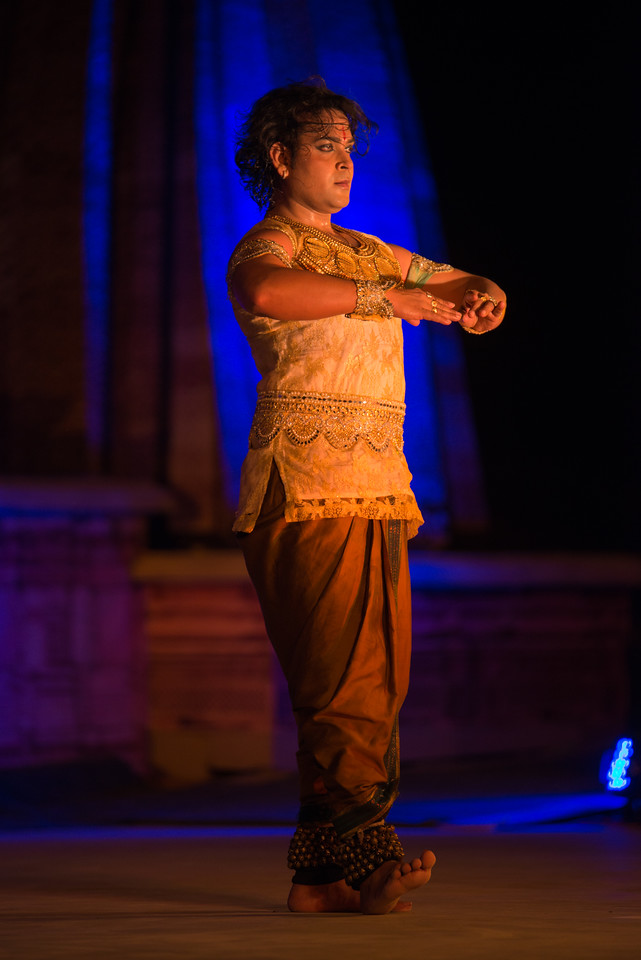 Anuj Mishra, Kathak dancer, belongs to the famous traditional family of musicians, gharana of Varanasi. <br /> <br /> Khajuraho Dance Festival 20th Feb'17. Colorful and brilliant classical dance forms of India with roots in the rich cultural traditions offer a feast for the eyes during a weeklong extravaganza. Khajuraho Temples in Madhya Pradesh are popular for their architectural wonders and sculptures.<br /> <br /> Anuj is the thirteenth generation of artists in his traditional musical family. Anuj has done Masters in Kathak from Khairagarh University, Madhya Pradesh and now pursuing his P.H.D in Kathak. Anuj is presently artistic director of Kathak Academy and president of Anuj Arjun Mishra dance company (AMC) and also impaneled as established artist in ICCR (Indian council for cultural relation) and main member of CID (International Dance Council) from Europe.