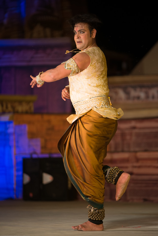 Anuj Mishra, Kathak dancer, belongs to the famous traditional family of musicians, gharana of Varanasi. <br /> <br /> Khajuraho Dance Festival 20th Feb'17. Colorful and brilliant classical dance forms of India with roots in the rich cultural traditions offer a feast for the eyes during a weeklong extravaganza. Khajuraho Temples in Madhya Pradesh are popular for their architectural wonders and sculptures.<br /> <br /> Anuj is the thirteenth generation of artists in his traditional musical family. His forefather Late Shri Shiv Kishore Mishra was renowned Sarangi player. His grandfather Late Shri Nanhu Mishra was a famous tabla maestro and his father Pt. Arjun Mishra is very famous and renowned kathak guru, dancer and choreographer learned under Late shri Ramnarayan Mishra in Kolkata and then by great legend Padamvibhushan Pt. Birju maharaj.