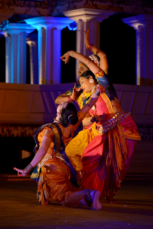"Carolina Prada, Nibedita Mohapatra, Abhinaya Nagajothy  performed Chhau, Odissi, Kuchipudi at the Khajuraho Festival of Dances February, 2014.<br /> <br /> Khajuraho Festival of Dances is celebrated at a time when the hardness of winter begins to fade and the king of all seasons, spring, takes over. The most colorful and brilliant classical dance forms of India with their roots in the ling and rich cultural traditions across the country, offer a feast for the eyes during a weeklong extravaganza.<br /> <br /> Khajuraho is located in the Indian state of Madhya Pradesh and roughly 620 kilometers (385 miles) southeast of New Delhi, the temples of Khajuraho are famous for their so-called ""erotic sculptures"". Khajuraho was the cultural capital of the Chandela Rajputs, a Hindu dynasty that ruled from the 10th to 12th centuries."