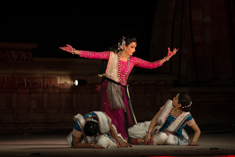 Yasmin Singh, is an accomplished Kathak dancer championing Raigarh Gharana. 'Lucknow Gharana' is the other style of Kathak, in which she has a special interest. She believes in harmonization of different genres of Kathak. She is triple M.A in History, Social Work and Kathak.<br /> <br /> Khajuraho Dance Festival 21st Feb'17. Colorful and brilliant classical dance forms of India with roots in the rich cultural traditions offer a feast for the eyes during a weeklong extravaganza. Khajuraho Temples in Madhya Pradesh are popular for their architectural wonders and sculptures.