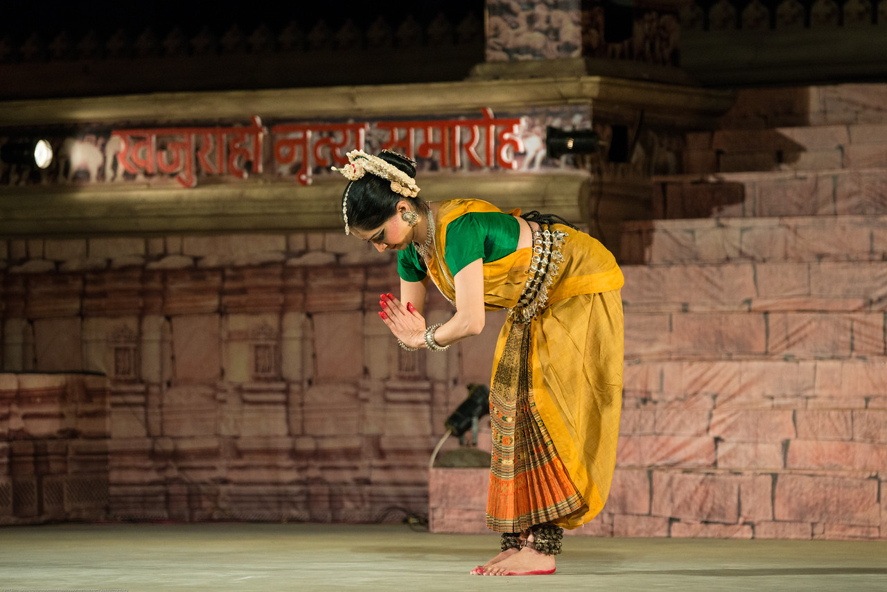 Shagun Butani is a leading exponent of Odissi and Seraikella Chhau. She has trained in Odissi under masters like Smt. Aloka Panikar and the late Guru Gangadhar Pradhan and in Seraikella Chhau from the late Guru Lingaraj Acharya and Guru Shashadhar Acharya. Though she has always firmly believed in the timeless and multi-faceted nature of our traditional dance forms she has constantly endeavoured to renew her sensibilities by studying other movement forms. She has studied American Contemporary Dance from Ms. Mary Anthony and Mr. Bertram Ross (Graham technique) in New York, and is an expert practitioner of yoga. Shagun is credited to be one of the very few women performers of Seraikella Chhau in the country. She was a part of a team that prepared the dossier on Seraikella Chhau on behalf of the Government of India to be presented to UNESCO. It has been selected by UNESCO to be in its list of Intangible cultural Heritage of 2010.<br /> <br /> Khajuraho Dance Festival 21st Feb'17. Colorful and brilliant classical dance forms of India with roots in the rich cultural traditions offer a feast for the eyes during a weeklong extravaganza. Khajuraho Temples in Madhya Pradesh are popular for their architectural wonders and sculptures.