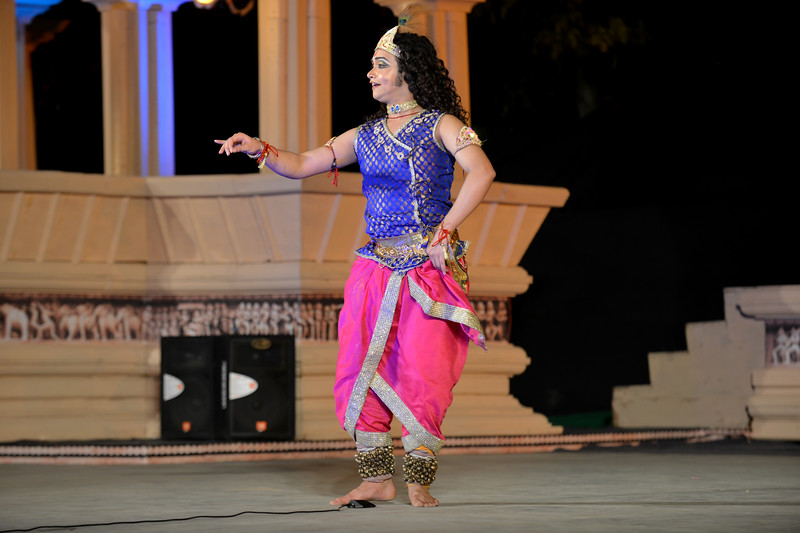 "Vishal Krishna - Kathak performance at the Khajuraho Festival of Dances February, 2014.<br /> <br /> Khajuraho Festival of Dances is celebrated at a time when the hardness of winter begins to fade and the king of all seasons, spring, takes over. The most colorful and brilliant classical dance forms of India with their roots in the ling and rich cultural traditions across the country, offer a feast for the eyes during a weeklong extravaganza.<br /> <br /> Khajuraho is located in the Indian state of Madhya Pradesh and roughly 620 kilometers (385 miles) southeast of New Delhi, the temples of Khajuraho are famous for their so-called ""erotic sculptures"". Khajuraho was the cultural capital of the Chandela Rajputs, a Hindu dynasty that ruled from the 10th to 12th centuries."