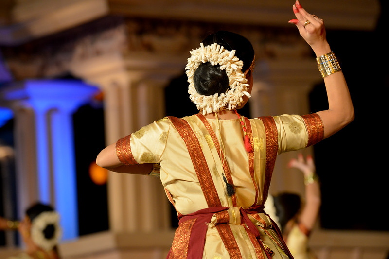 "Anita Sharma & Troupe, Satriya Group's dance performance at the Khajuraho Festival of Dances February, 2014.<br /> <br /> Khajuraho Festival of Dances is celebrated at a time when the hardness of winter begins to fade and the king of all seasons, spring, takes over. The most colorful and brilliant classical dance forms of India with their roots in the ling and rich cultural traditions across the country, offer a feast for the eyes during a weeklong extravaganza.<br /> <br /> Khajuraho is located in the Indian state of Madhya Pradesh and roughly 620 kilometers (385 miles) southeast of New Delhi, the temples of Khajuraho are famous for their so-called ""erotic sculptures"". Khajuraho was the cultural capital of the Chandela Rajputs, a Hindu dynasty that ruled from the 10th to 12th centuries."