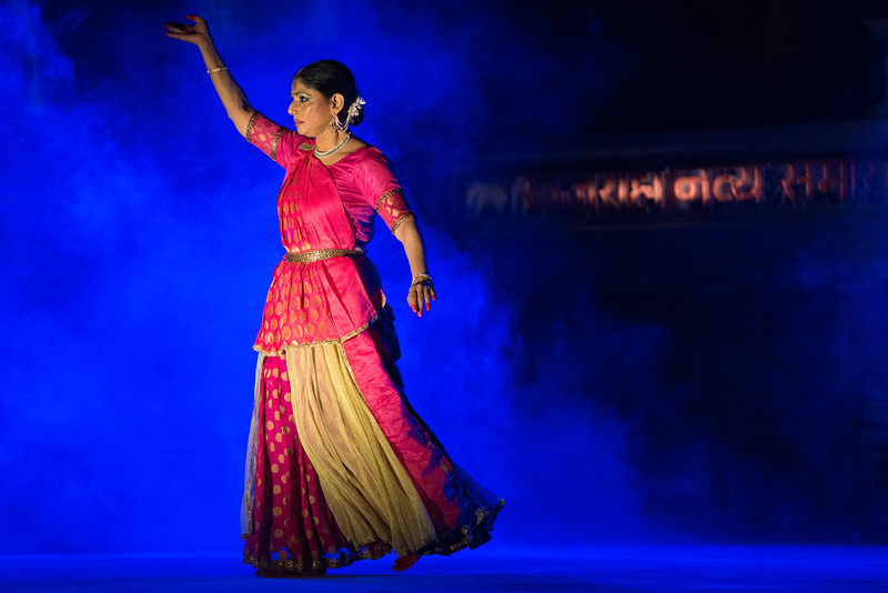 Rachana Yadav is the daughter of Smt. Mannu Bhandari and Shri Rajendra Yadav, eminent names in the world of Hindi literature. Rachana started learning dance under the guidance of Shri. Ravi Jain. Thereafter, she became a part of the Drishtikon Dance Foundation – The Aditi Mangaldas Dance Company, where she continued her training under the able guidance of Aditi Mangaldas. She has also undergone advanced level training with Pt. Jaikishan Maharaj, who holds special classes for professional dancers, to further hone their talent. She has done post graduation in mass communication from the Indian Institute of Mass Communication, New Delhi and is a recipient of Silver Salver Award from the institute. She has also completed her Prabhakar in kathak from Prayag Sangeet Samiti, Allahabad University.  The Rachana Yadav Kathak Studio was started in DLF Gurgaon in 2006 for doing extensive work in the field of Kathak: imparting training, creating, innovating and discovering new aspects of Kathak.<br /> <br /> Khajuraho Dance Festival 22nd Feb'17. Colorful and brilliant classical dance forms of India with roots in the rich cultural traditions offer a feast for the eyes during a weeklong extravaganza. Khajuraho Temples in Madhya Pradesh are popular for their architectural wonders and sculptures.