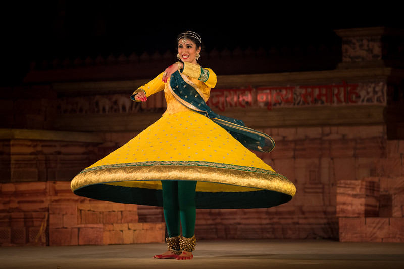 Shinjini Kulkarni is a Kathak dancer who is the granddaughter of Kathak Maestro Pandit Birju Maharaj ji. She is the ninth generation from Kalka Bindadin lineage. She began her training in Kathak dance at the age of five under the tutelage of her grandfather. She began performing at the age of eight, and has ever since been exploring her passion for dance.<br /> <br /> Khajuraho Dance Festival 22nd Feb'17. Colorful and brilliant classical dance forms of India with roots in the rich cultural traditions offer a feast for the eyes during a weeklong extravaganza. Khajuraho Temples in Madhya Pradesh are popular for their architectural wonders and sculptures.