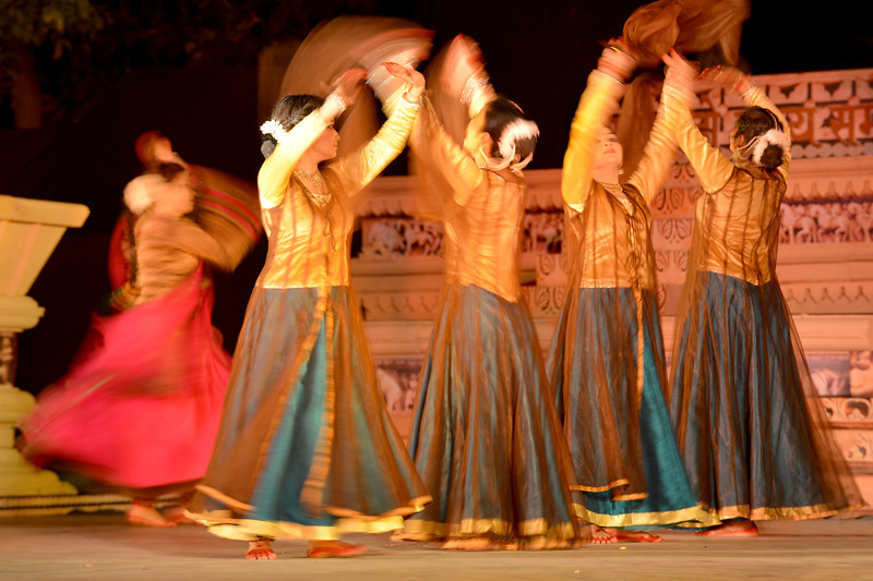 """Vidyagauri Adkar, Mahati Kannan, Bithika Mistry performed Kathak, Bharatnatyam & Odissi at the Khajuraho Festival of Dances.  This festival is celebrated at a time when the hardness of winter begins to fade and the king of all seasons, spring, takes over. The most colorful and brilliant classical dance forms of india with their roots in the ling and rich cultural traditions across the country, offer a feast for the eyes during a weeklong extravaganza.  Khajuraho is located in the Indian state of Madhya Pradesh and roughly 620 kilometers (385 miles) southeast of New Delhi, the temples of Khajuraho are famous for their so-called """"erotic sculptures"""". Khajuraho was the cultural capital of the Chandela Rajputs, a Hindu dynasty that ruled from the 10th to 12th centuries."""