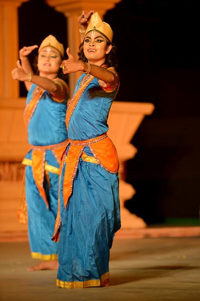 "Dipjyotidipankar Sattriya. Dipjyoti-Dipankar are a set of young and promising artists of Sattriya dance. Dipjyoti-Dipankar started learning sattriya dance under the guidance of Guru Sri Bobbyrani Talukdar, Sri Dollyrani Talukdar and Guruji Ramkrishna Talukdar. Dipjyodi-dipankar have been presenting this danceas a duet since 2007. Dipjyoti and Dipankar graduated from the Luit Konwar Rudra Babuab State College of Music in Sattriya Dance and Kathak dance in the year 2012.  Marami Medhi, Meghranjani, Dipjyoti, and Dipankar & Troupe's Kathak & Satriya dance performance at the Khajuraho Festival of Dances.  This festival is celebrated at a time when the hardness of winter begins to fade and the king of all seasons, spring, takes over. The most colorful and brilliant classical dance forms of india with their roots in the ling and rich cultural traditions across the country, offer a feast for the eyes during a weeklong extravaganza.  Khajuraho is located in the Indian state of Madhya Pradesh and roughly 620 kilometers (385 miles) southeast of New Delhi, the temples of Khajuraho are famous for their so-called ""erotic sculptures"". Khajuraho was the cultural capital of the Chandela Rajputs, a Hindu dynasty that ruled from the 10th to 12th centuries."