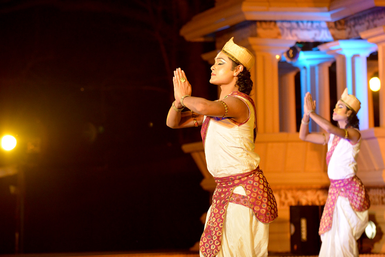 """Dipjyotidipankar Sattriya. Dipjyoti-Dipankar are a set of young and promising artists of Sattriya dance. Dipjyoti-Dipankar started learning sattriya dance under the guidance of Guru Sri Bobbyrani Talukdar, Sri Dollyrani Talukdar and Guruji Ramkrishna Talukdar. Dipjyodi-dipankar have been presenting this danceas a duet since 2007. Dipjyoti and Dipankar graduated from the Luit Konwar Rudra Babuab State College of Music in Sattriya Dance and Kathak dance in the year 2012.<br /> <br /> Marami Medhi, Meghranjani, Dipjyoti, and Dipankar & Troupe's Kathak & Satriya dance performance at the Khajuraho Festival of Dances.<br /> <br /> This festival is celebrated at a time when the hardness of winter begins to fade and the king of all seasons, spring, takes over. The most colorful and brilliant classical dance forms of india with their roots in the ling and rich cultural traditions across the country, offer a feast for the eyes during a weeklong extravaganza.<br /> <br /> Khajuraho is located in the Indian state of Madhya Pradesh and roughly 620 kilometers (385 miles) southeast of New Delhi, the temples of Khajuraho are famous for their so-called """"erotic sculptures"""". Khajuraho was the cultural capital of the Chandela Rajputs, a Hindu dynasty that ruled from the 10th to 12th centuries."""