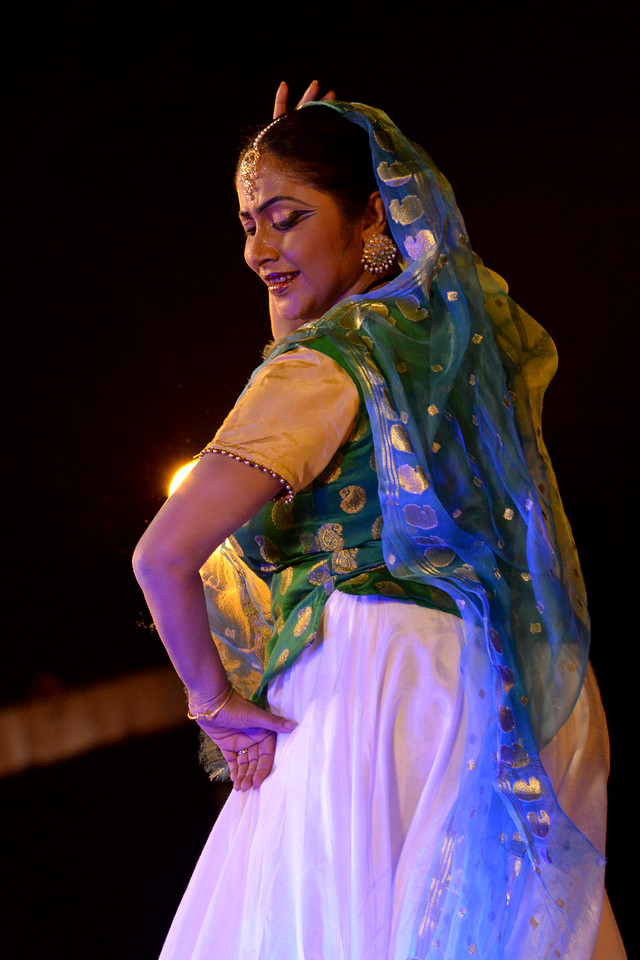 "Luna Poddar. Ashimbandhu Bhattacharya & Troupe's Kathak dance performance at the Khajuraho Festival of Dances.<br /> <br /> This festival is celebrated at a time when the hardness of winter begins to fade and the king of all seasons, spring, takes over. The most colorful and brilliant classical dance forms of india with their roots in the ling and rich cultural traditions across the country, offer a feast for the eyes during a weeklong extravaganza.<br /> <br /> Khajuraho is located in the Indian state of Madhya Pradesh and roughly 620 kilometers (385 miles) southeast of New Delhi, the temples of Khajuraho are famous for their so-called ""erotic sculptures"". Khajuraho was the cultural capital of the Chandela Rajputs, a Hindu dynasty that ruled from the 10th to 12th centuries."