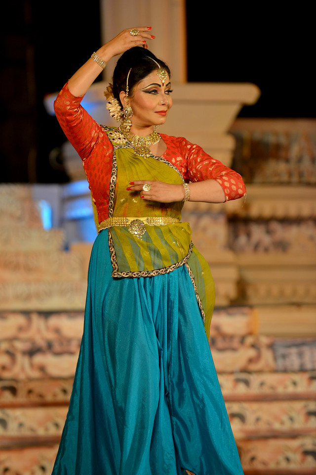 "Marami Medhi, is a dynamic and an accomplished danseuse from Assam is a well known name in the field of Kathak. She is the founder of Kathak dance institute ""Sur Sangam"" located in the heart of Guwahati city. She received her initial training in Kathak dance under the prevailing guidance of Late Charoo Bordoloi, the founder Principal of State College of Music, Guwahati. <br /> <br /> Marami Medhi, Meghranjani, Dipjyoti, and Dipankar & Troupe's Kathak & Satriya dance performance at the Khajuraho Festival of Dances.<br /> <br /> This festival is celebrated at a time when the hardness of winter begins to fade and the king of all seasons, spring, takes over. The most colorful and brilliant classical dance forms of india with their roots in the ling and rich cultural traditions across the country, offer a feast for the eyes during a weeklong extravaganza.<br /> <br /> Khajuraho is located in the Indian state of Madhya Pradesh and roughly 620 kilometers (385 miles) southeast of New Delhi, the temples of Khajuraho are famous for their so-called ""erotic sculptures"". Khajuraho was the cultural capital of the Chandela Rajputs, a Hindu dynasty that ruled from the 10th to 12th centuries."
