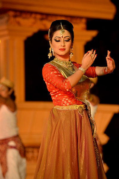 "Meghranjani Medhi is a young and promising artist of Kathak dance. Daughter of Marami Medhi, a renowned exponent of Kathak and Joy prakash Medhi ,a renowned vocalist , composer & music director of Assam. Meghranjani started learning Kathak at a very tender age of 3 years under the guidance of her mother.<br /> <br /> Marami Medhi, Meghranjani, Dipjyoti, and Dipankar & Troupe's Kathak & Satriya dance performance at the Khajuraho Festival of Dances.<br /> <br /> This festival is celebrated at a time when the hardness of winter begins to fade and the king of all seasons, spring, takes over. The most colorful and brilliant classical dance forms of india with their roots in the ling and rich cultural traditions across the country, offer a feast for the eyes during a weeklong extravaganza.<br /> <br /> Khajuraho is located in the Indian state of Madhya Pradesh and roughly 620 kilometers (385 miles) southeast of New Delhi, the temples of Khajuraho are famous for their so-called ""erotic sculptures"". Khajuraho was the cultural capital of the Chandela Rajputs, a Hindu dynasty that ruled from the 10th to 12th centuries."
