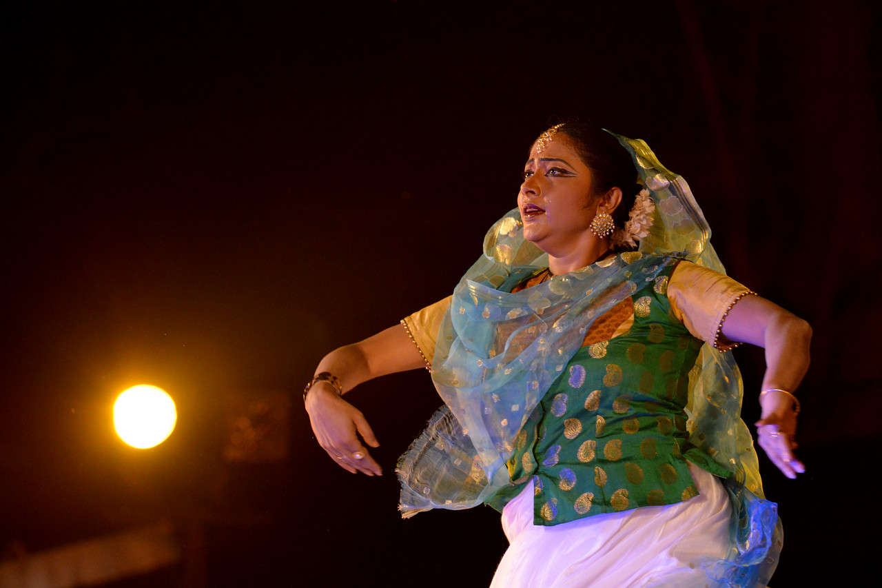 Luna Poddar. Ashimbandhu Bhattacharya & Troupe's Kathak dance performance at the Khajuraho Festival of Dances.