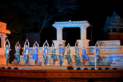 Aruna Mohanti and Troupe, Odissi Group performed Odissi dance at the Khajuraho Festival of Dances, February, 2014.