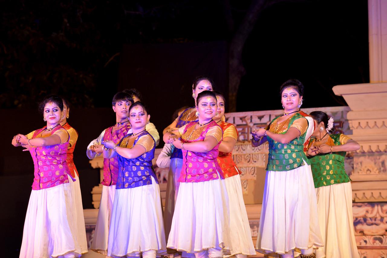 Ashimbandhu Bhattacharya & Troupe's Kathak dance performance at the Khajuraho Festival of Dances.