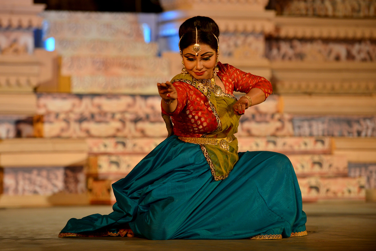 """Marami Medhi, is a dynamic and an accomplished danseuse from Assam is a well known name in the field of Kathak. She is the founder of Kathak dance institute """"Sur Sangam"""" located in the heart of Guwahati city. She received her initial training in Kathak dance under the prevailing guidance of Late Charoo Bordoloi, the founder Principal of State College of Music, Guwahati. <br /> <br /> Marami Medhi, Meghranjani, Dipjyoti, and Dipankar & Troupe's Kathak & Satriya dance performance at the Khajuraho Festival of Dances."""