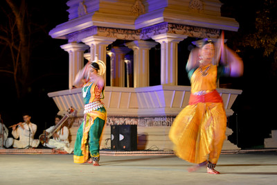 Dakshina Vaidyanathan & Sanchita Banarjee, perform Bharatnatyam & Odissi dance at the Khajuraho Festival of Dances, February, 2014.