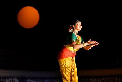 Dakshina Vaidyanathan performs Bharatnatyam dance at the Khajuraho Festival of Dances, February, 2014.