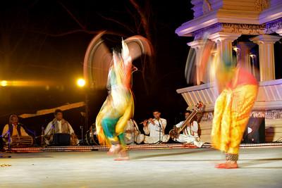 Dakshina Vaidyanathan & Sanchita Banarjee, perform Bharatnatyam & Odissi dance at the Khajuraho Festival of Dances, February, 2014.