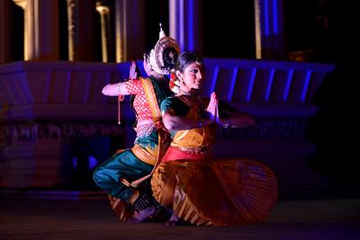 Dakshina Vaidyanathan & Sanchita Banarjee, Delhi perform Bharatnatyam & Odissi at the Khajuraho Festival of Dances February, 2014.