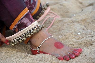 Dancers from Guru Gangadhar Pradhan's  Konark Natya Mandap at the Konark beach in Orissa.   Shot during the Konark Dance & Music Festival held from February, 19th to 23rd, 2010 was organized by Konark Natya Mandap.