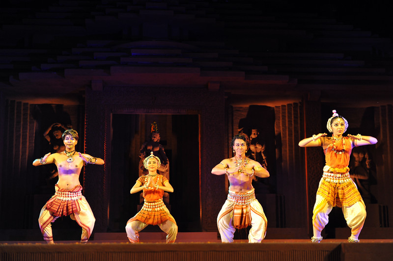 """Odissi Dance Group, Sutra Dance Theatre from Kuala Lumpur, Malaysia.<br /> The Konark Dance & Music Festival held from February, 19th to 23rd, 2010 was organized by Konark Natya Mandap.<br /> <br /> The objectives of the Konark Natya Mandap are to preserve, promote, and project the rich cultural heritage of Orissa and to infuse cultural awareness in the minds of all. Started with painstaking efforts of Guru Gangadhar Pradhan, an internationally renowned Odissi dance teacher. 2010 was the silver jubilee year of the festival. For more details see  <a href=""""http://www.konarknatyamandap.org/"""">http://www.konarknatyamandap.org/</a> <br /> <br /> <br /> The festival takes place in an open-air auditorium and enlivens the spirit of the sculptures of Konark temple which is just a short distance away. The festival brings in the spirit of merry to all the onlookers. The music reverberates and combined with the sounds of the ankle bells of the dancers enthralls the audiences. The elegant steps and expressions of the dancers makes the event so captivating that no one can ever forget it."""