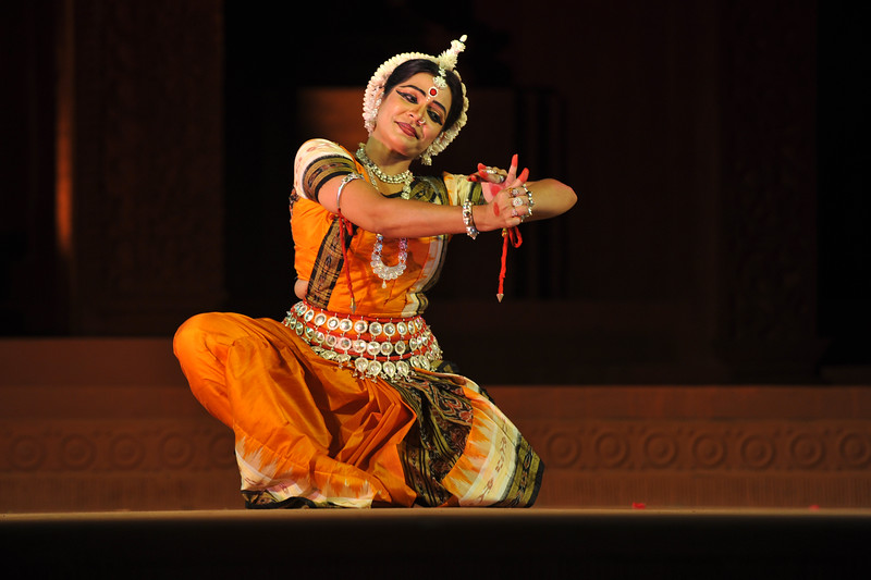 """Odissi Dance by Meera Das, Cuttak.<br /> <br /> The Konark Dance & Music Festival held from February, 19th to 23rd, 2010 was organized by Konark Natya Mandap.<br /> <br /> The objectives of the Konark Natya Mandap are to preserve, promote, and project the rich cultural heritage of Orissa and to infuse cultural awareness in the minds of all. Started with painstaking efforts of Guru Gangadhar Pradhan, an internationally renowned Odissi dance teacher. 2010 was the silver jubilee year of the festival. For more details see  <a href=""""http://www.konarknatyamandap.org/"""">http://www.konarknatyamandap.org/</a> <br /> <br /> <br /> The festival takes place in an open-air auditorium and enlivens the spirit of the sculptures of Konark temple which is just a short distance away. The festival brings in the spirit of merry to all the onlookers. The music reverberates and combined with the sounds of the ankle bells of the dancers enthralls the audiences. The elegant steps and expressions of the dancers makes the event so captivating that no one can ever forget it."""