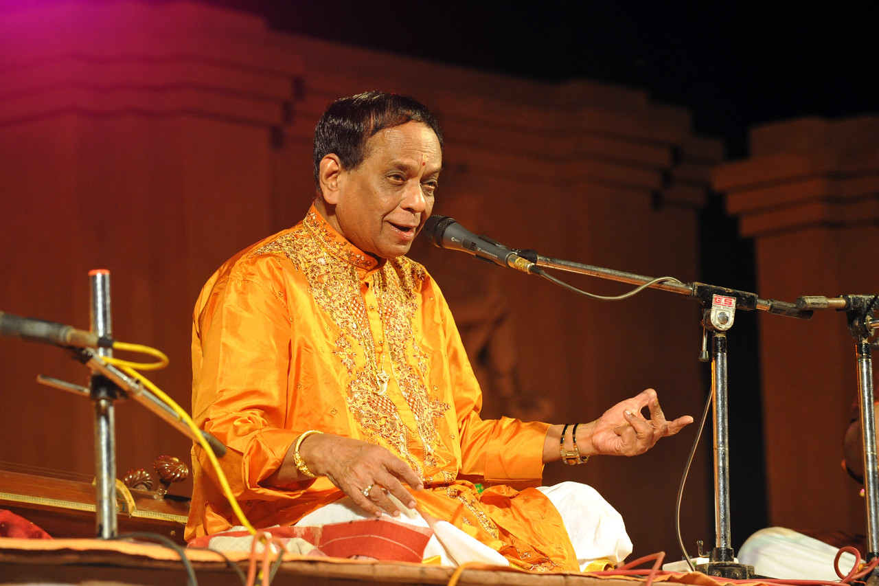 "Padmabibhushan, Dr. M. Balamuralikrishna giving a Carnatic vocal performance.<br /> <br /> The Konark Dance & Music Festival held from February, 19th to 23rd, 2010 was organized by Konark Natya Mandap.<br /> <br /> The objectives of the Konark Natya Mandap are to preserve, promote, and project the rich cultural heritage of Orissa and to infuse cultural awareness in the minds of all. Started with painstaking efforts of Guru Gangadhar Pradhan, an internationally renowned Odissi dance teacher. 2010 was the silver jubilee year of the festival. For more details see  <a href=""http://www.konarknatyamandap.org/"">http://www.konarknatyamandap.org/</a> <br /> <br /> <br /> The festival takes place in an open-air auditorium and enlivens the spirit of the sculptures of Konark temple which is just a short distance away. The festival brings in the spirit of merry to all the onlookers. The music reverberates and combined with the sounds of the ankle bells of the dancers enthralls the audiences. The elegant steps and expressions of the dancers makes the event so captivating that no one can ever forget it."