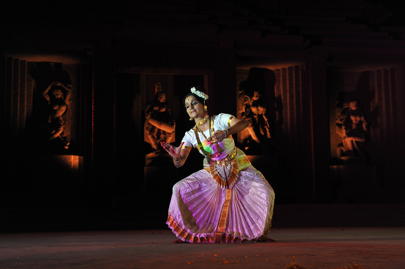 "Ms. Mandakini Trivedi & Troupe, from Mumbai.<br /> <br /> The Konark Dance & Music Festival held from February, 19th to 23rd, 2010 was organized by Konark Natya Mandap.<br /> <br /> The objectives of the Konark Natya Mandap are to preserve, promote, and project the rich cultural heritage of Orissa and to infuse cultural awareness in the minds of all. Started with painstaking efforts of Guru Gangadhar Pradhan, an internationally renowned Odissi dance teacher. 2010 was the silver jubilee year of the festival. For more details see  <a href=""http://www.konarknatyamandap.org/"">http://www.konarknatyamandap.org/</a> <br /> <br /> <br /> The festival takes place in an open-air auditorium and enlivens the spirit of the sculptures of Konark temple which is just a short distance away. The festival brings in the spirit of merry to all the onlookers. The music reverberates and combined with the sounds of the ankle bells of the dancers enthralls the audiences. The elegant steps and expressions of the dancers makes the event so captivating that no one can ever forget it."