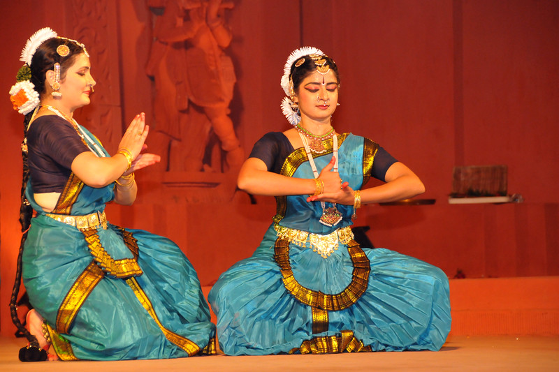 "Bharat Natyam by Nrityakalamandiram, Bangalore.<br /> <br /> The Konark Dance & Music Festival 2011 held from February, 19th to 23rd, organized by Konark Natya Mandap. The festival takes place in an open-air auditorium and enlivens the spirit of the sculptures of Konark temple which is just a short distance away.<br /> <br /> The objectives of the Konark Natya Mandap are to preserve, promote, and project the rich cultural heritage of Orissa and to infuse cultural awareness in the minds of all. Started with painstaking efforts of internationally renowned Odissi dance teacher Guru Gangadhar Pradhan who unfortunately passed away last year. For more details on the festival see  <a href=""http://www.konarknatyamandap.org/"">http://www.konarknatyamandap.org/</a>"