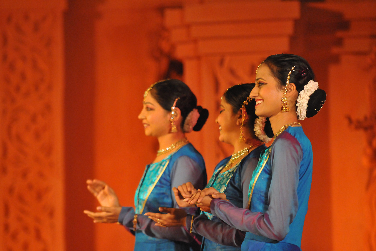 "Poorna Achar, Chandana Ramesh, and Mitha Vinay Bellavi, of Nadam group from, Bangalore performed the Kathak Dance at Konark.<br /> <br /> The Konark Dance & Music Festival 2011 held from February, 19th to 23rd, organized by Konark Natya Mandap. The festival takes place in an open-air auditorium and enlivens the spirit of the sculptures of Konark temple which is just a short distance away.<br /> <br /> The objectives of the Konark Natya Mandap are to preserve, promote, and project the rich cultural heritage of Orissa and to infuse cultural awareness in the minds of all. Started with painstaking efforts of internationally renowned Odissi dance teacher Guru Gangadhar Pradhan who unfortunately passed away last year. For more details on the festival see  <a href=""http://www.konarknatyamandap.org/"">http://www.konarknatyamandap.org/</a>"