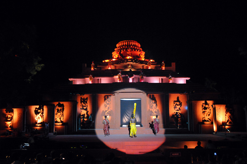 "Inaugural programme by lighting the lamps.<br /> The Konark Dance & Music Festival 2011 held from February, 19th to 23rd, organized by Konark Natya Mandap. The festival takes place in an open-air auditorium and enlivens the spirit of the sculptures of Konark temple which is just a short distance away.<br /> <br /> The objectives of the Konark Natya Mandap are to preserve, promote, and project the rich cultural heritage of Orissa and to infuse cultural awareness in the minds of all. Started with painstaking efforts of internationally renowned Odissi dance teacher Guru Gangadhar Pradhan who unfortunately passed away last year. For more details on the festival see  <a href=""http://www.konarknatyamandap.org/"">http://www.konarknatyamandap.org/</a>"