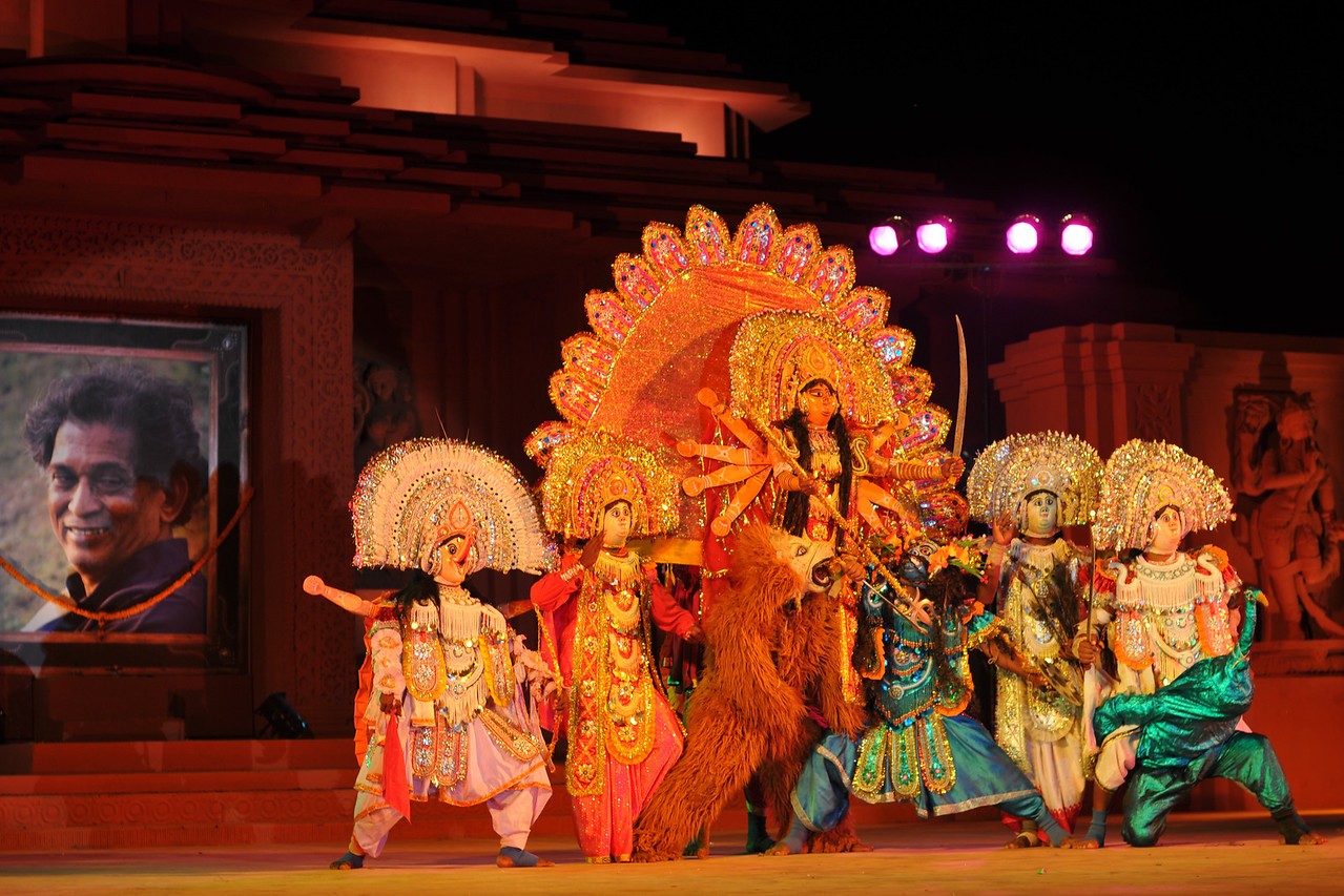 """Chhow Dance by Purulia, West Bengal.<br /> <br /> The Konark Dance & Music Festival 2011 held from February, 19th to 23rd, organized by Konark Natya Mandap. The festival takes place in an open-air auditorium and enlivens the spirit of the sculptures of Konark temple which is just a short distance away.<br /> <br /> The objectives of the Konark Natya Mandap are to preserve, promote, and project the rich cultural heritage of Orissa and to infuse cultural awareness in the minds of all. Started with painstaking efforts of internationally renowned Odissi dance teacher Guru Gangadhar Pradhan who unfortunately passed away last year. For more details on the festival see  <a href=""""http://www.konarknatyamandap.org/"""">http://www.konarknatyamandap.org/</a> and <a href=""""http://konarkfestival.com/"""">http://konarkfestival.com/</a>"""